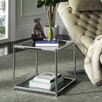 Cletus Glass End Table