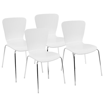 Aldora Side Chair Color: White