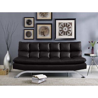 Lincya Sleeper Sofa Upholstery: Black