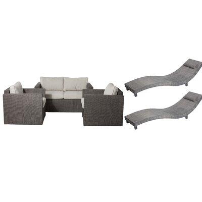 Lexington 5 Piece Patio Set with Cushion