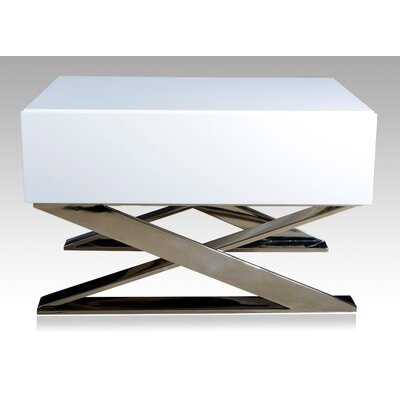 Hopson Nightstand Color: White