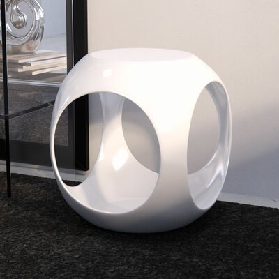 Kai End Table Color: White