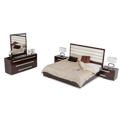 Sommerset Contemporary Panel 5 Piece Bedroom Set Size: Queen