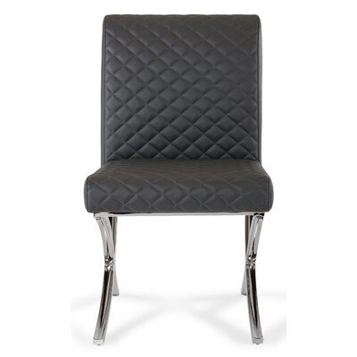 Belafonte Adderley Side Chair Upholstery: Dark Grey/Oak
