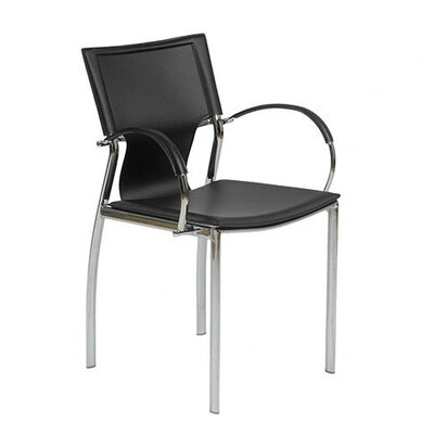 Edmond Arm Chair Upholstery: Black