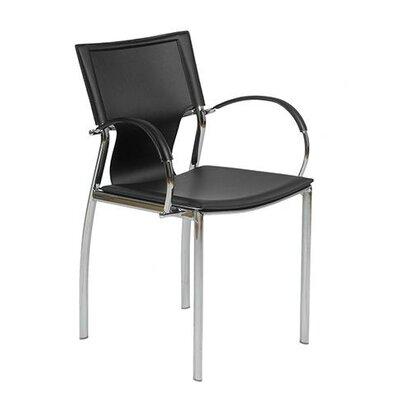 Edmond Arm Chair Upholstery: Black