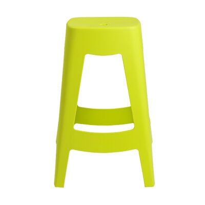 Aubrianna 27 Bar Stool Finish: Lime Green