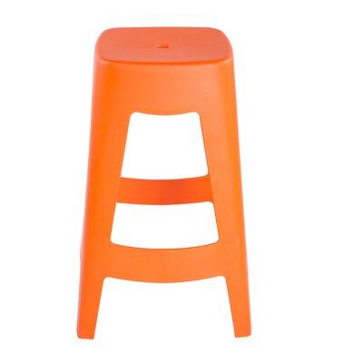 Aubrianna 27 Bar Stool Finish: Orange
