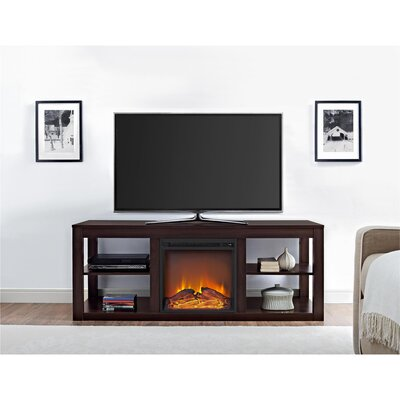 Salma TV Stand with Electric Fireplace Finish: Espresso