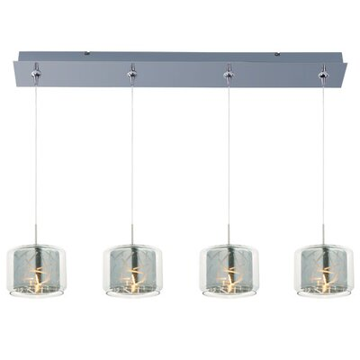 Murdoch 4-Light Pendant and Canopy Shade Color: Mirror