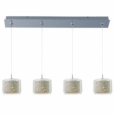 Murdoch 4-Light Pendant and Canopy Shade Color: White