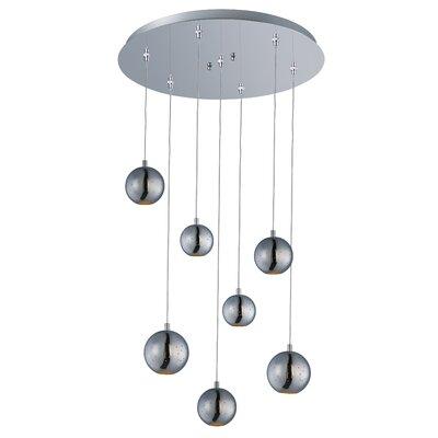 Hestia 7 LED Integrated Bulb Cascade Pendant