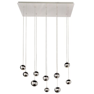Equinox 10 LED Integrated Bulb Cascade Pendant