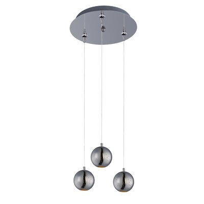 Hestia Modern 3-LED Integrated Bulb Pendant and Canopy