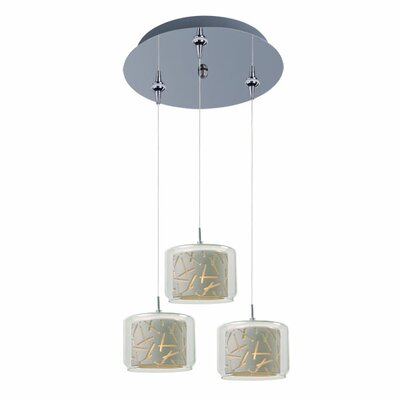 Murdoch 3-Light Pendant and Canopy Shade Color: White