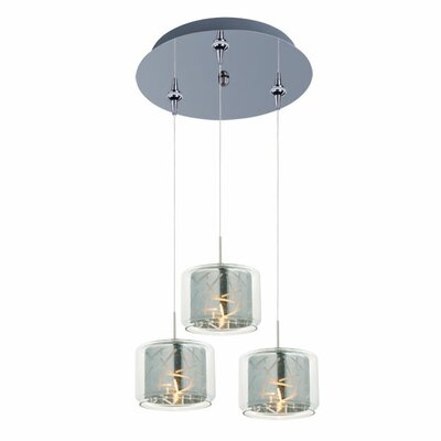 Murdoch 3-Light Pendant and Canopy Shade Color: Mirror