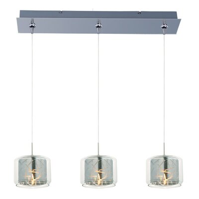 Hephaestus 3-Light Pendant and Canopy Shade Color: Mirror