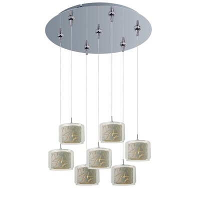 Murdoch 7-Light Pendant and Canopy Shade Color: White