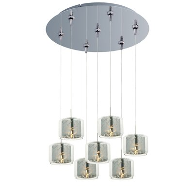 Murdoch 7-Light Pendant and Canopy Shade Color: Mirror