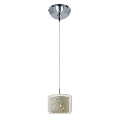 Hephaestus Modern 1-Light Pendant and Canopy Shade Color: White