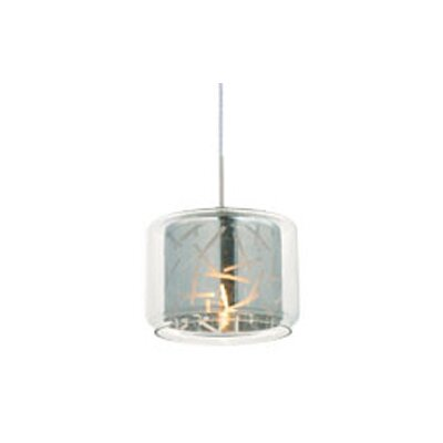 Hephaestus 1-Light Pendant Shade Color: Clear/Mirror