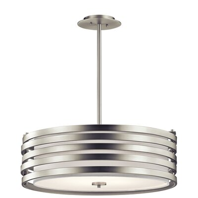 Rushmere 4-Light Drum Pendant Finish: Brushed Nickel