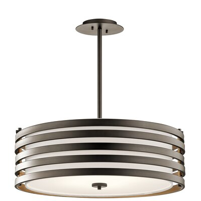 Rushmere 4-Light Drum Pendant Finish: Olde Bronze