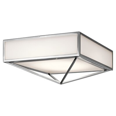 Madilyn 1-Light Flush Mount Size: 8.5 H x 18 W x  18 D