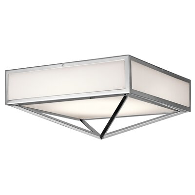 Madilyn 1-Light Flush Mount Size: 6.75 H x 15 W x  15 D