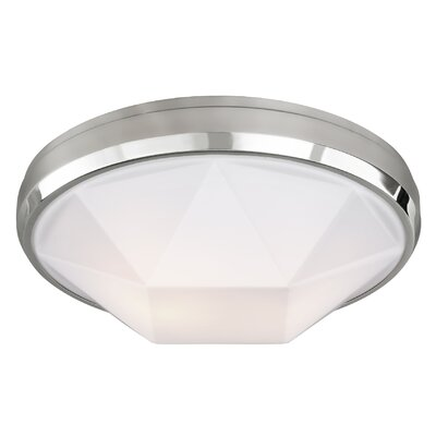 Lindquist 2-Light Flush Mount Finish: Chrome