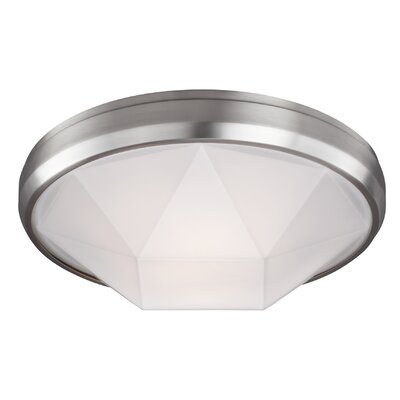 Lindquist 2-Light Flush Mount Finish: Satin Nickel