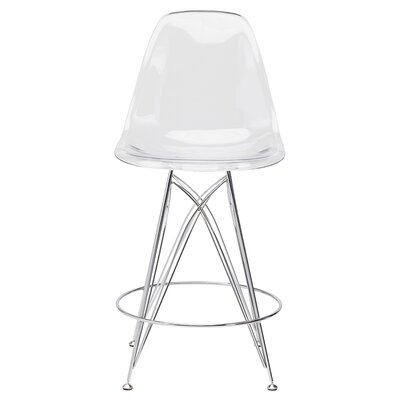 Braithwaite 25.5 Bar Stool Upholstery: Clear Chromed