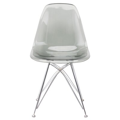 Buhr 17.75 Side Chair Upholstery: Gray Chromed