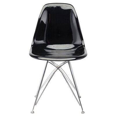 Northville 17.75 Side Chair Upholstery: Black Chromed