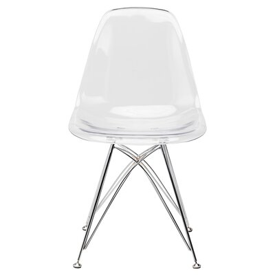 Buhr 17.75 Side Chair Upholstery: Clear Chromed