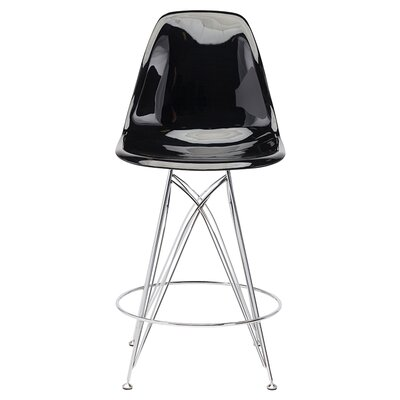Braithwaite 25.5 Bar Stool Upholstery: Black Chromed