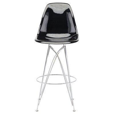 Britten 28.5 Bar Stool Upholstery: Black Chromed