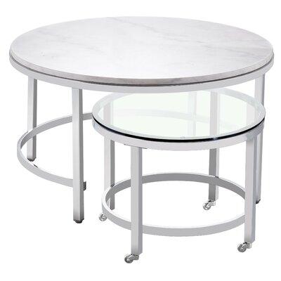 Blanco 2 Piece Coffee Table Set