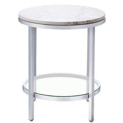 Blanco Marble End Table