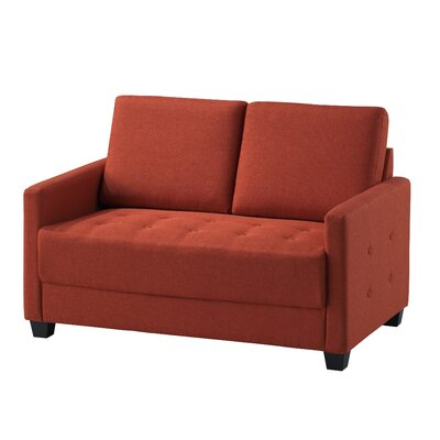 Edinburg Loveseat Upholstery: Orange