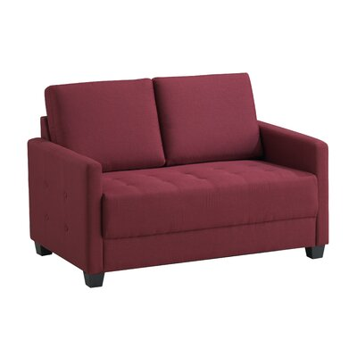 Edinburg Loveseat Upholstery: Red Wine