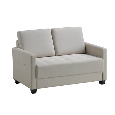 Edinburg Loveseat Upholstery: Ivory