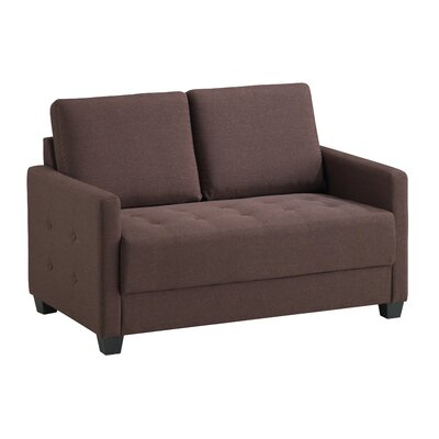 Edinburg Loveseat Upholstery: Brown
