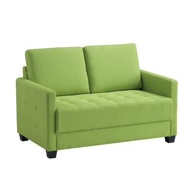 Edinburg Loveseat Upholstery: Lime Green