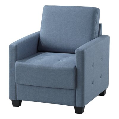 Filipina Arm Chair Upholstery: Sky Blue