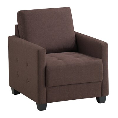 Edinburg Armchair Upholstery: Brown