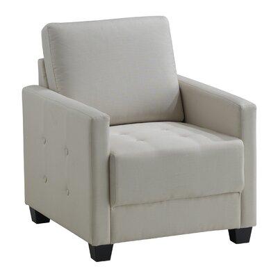 Edinburg Armchair Upholstery: Ivory