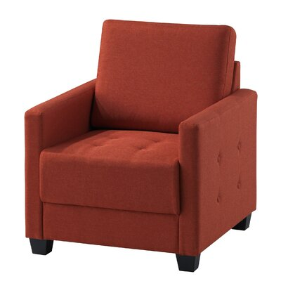 Edinburg Armchair Upholstery: Orange