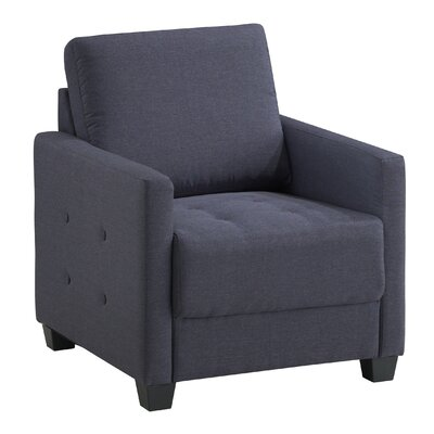 Edinburg Armchair Upholstery: Charcoal