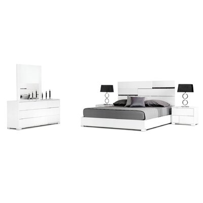 Palangkaraya 3 Drawer Dresser with 2 Nightstands Finish: White